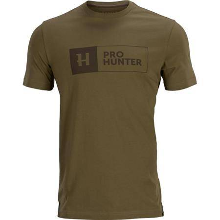 Tee Shirt Manches Courtes Homme Harkila Pro Hunter S/S - Kaki