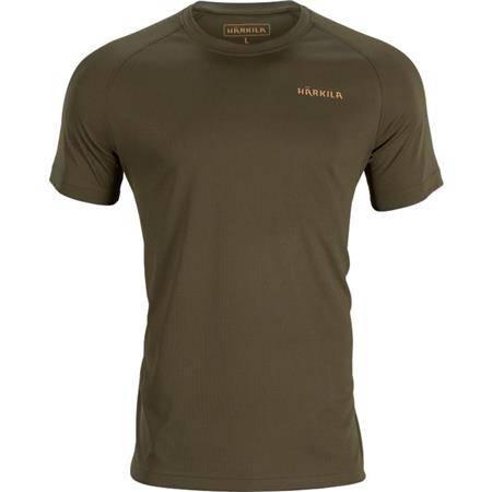 Tee Shirt Manches Courtes Homme Harkila Trail S/S - Kaki