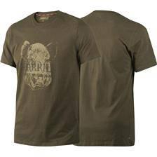 Tee shirt manches courtes homme harkila wild boar odin - vert