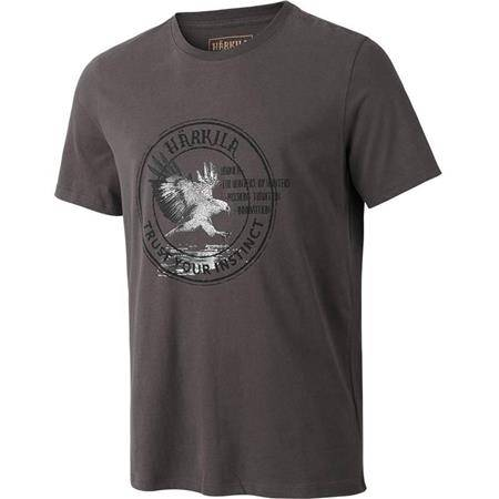 TEE SHIRT MANCHES COURTES HOMME HARKILA WILDLIFE EAGLE S/S - GRIS