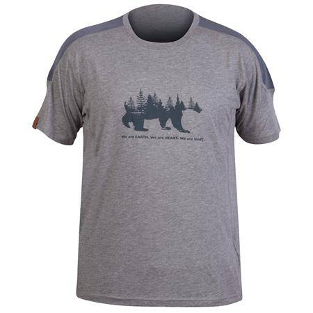 Tee Shirt Manches Courtes Homme Hart Bear - Gris