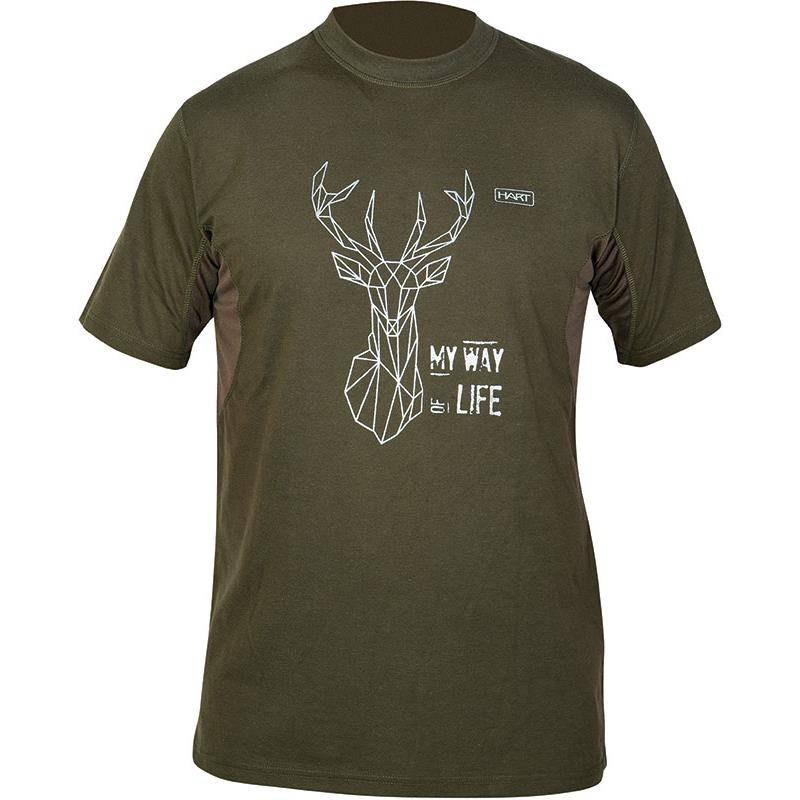 Tee Shirt Manches Courtes  Homme Hart Branded Deer - Kaki