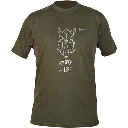 Tee Shirt Manches Courtes  Homme Hart Branded Wildpig - Kaki