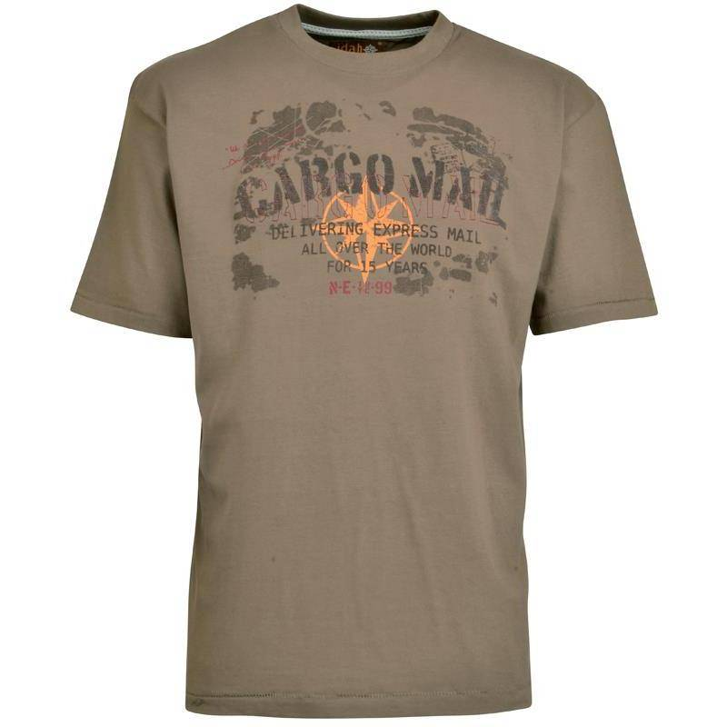 Tee Shirt Manches Courtes Homme Idaho Cargo - Marron
