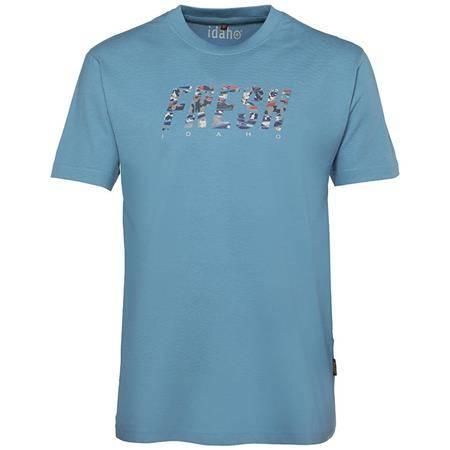Tee Shirt Manches Courtes Homme Idaho Fresh - Bleu
