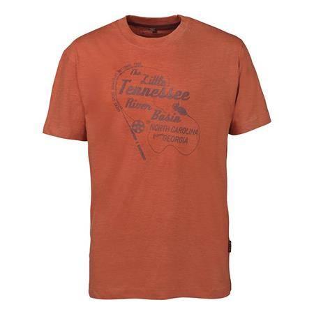 Tee Shirt Manches Courtes Homme Idaho Tennessee - Orange
