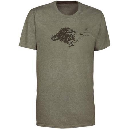 Tee Shirt Manches Courtes Homme Ligne Verney-Carron Tee For Two Sanglier - Kaki