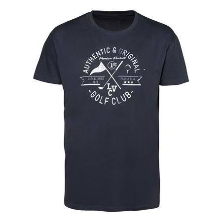 Tee Shirt Manches Courtes Homme Ligne Verney-Carron Golf Club - Bleu