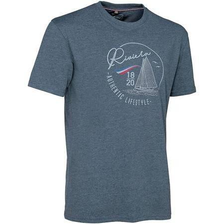 Tee Shirt Manches Courtes Homme Ligne Verney-Carron Riviera - Bleu