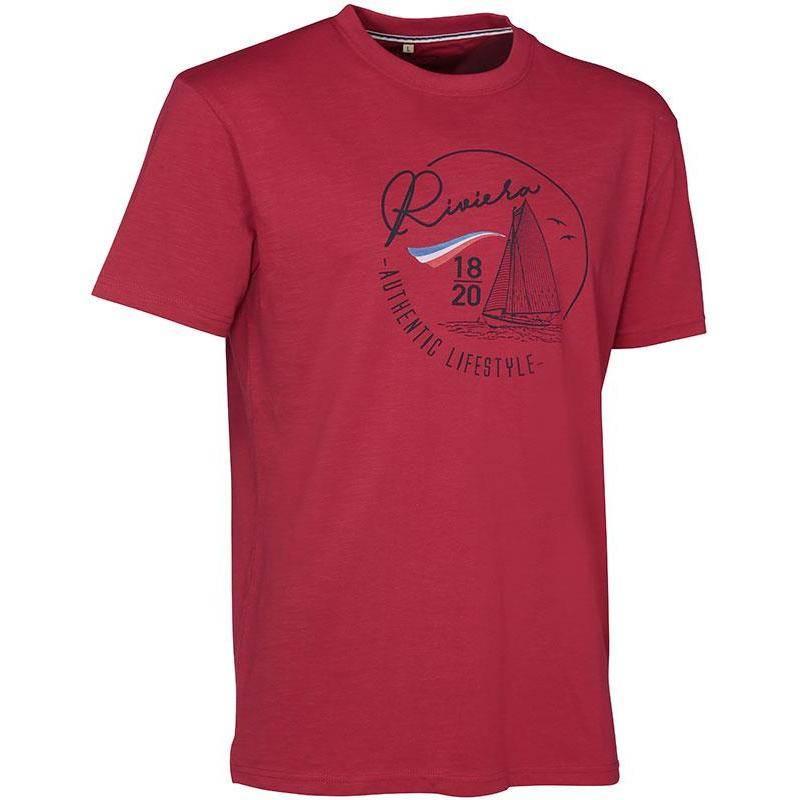 Tee Shirt Manches Courtes Homme Ligne Verney-Carron Riviera - Rouge