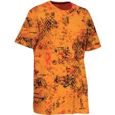 Tee shirt manches courtes homme ligne verney-carron snake - camou orange