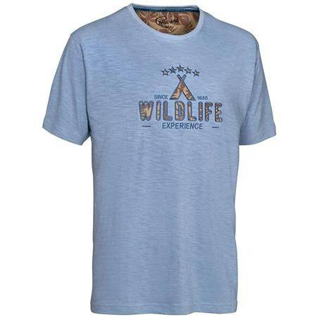 Tee Shirt Manches Courtes Homme Ligne Verney-Carron Wildlife - Bleu Gris
