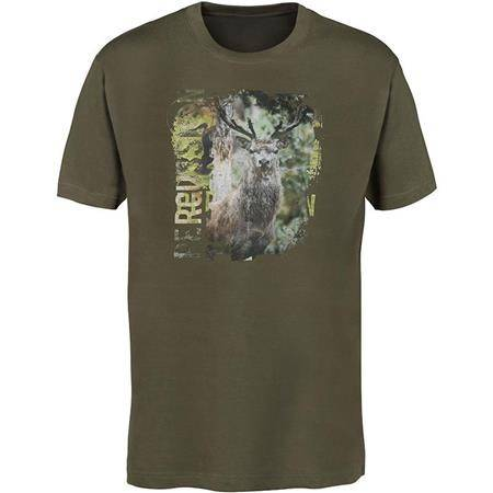 TEE SHIRT MANCHES COURTES HOMME PERCUSSION SERIGRAPHIE CERF - CAMO
