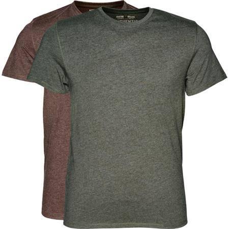 Tee Shirt Manches Courtes Homme Seeland Basic 2-Pack - Marron - Par 2