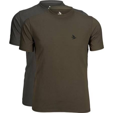 Tee Shirt Manches Courtes Homme Seeland Outdoor 2-Pack - Kaki - Par 2