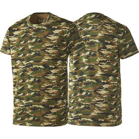 TEE SHIRT MANCHES COURTES HOMME SEELAND SPECKLED - CAMO