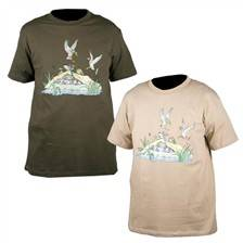 Tee shirt manches courtes homme somlys hutte canard 049
