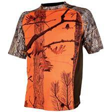 Tee shirt manches courtes junior somlys 031fk - camou orange