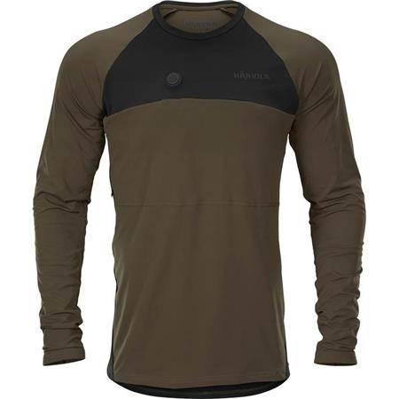 Tee Shirt Manches Longues Homme Harkila Heat L/S - Vert/Noir