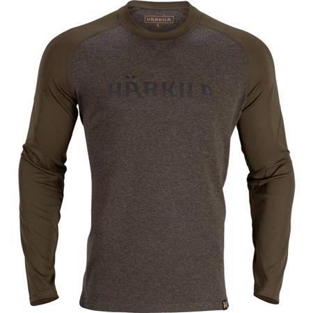 Tee Shirt Manches Longues Homme Harkila Metso L/S - Marron