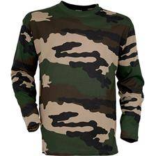 Tee shirt manches longues homme percussion - camo