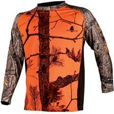 Tee shirt manches longues somlys 034 - camou orange