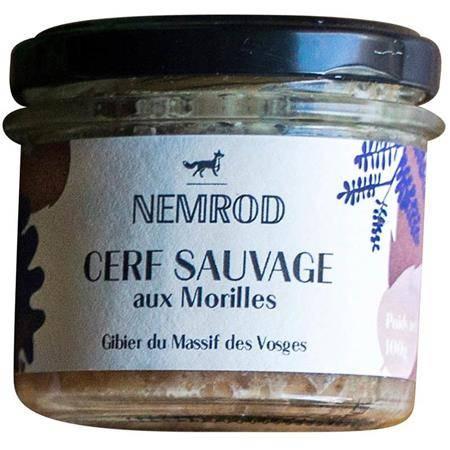 Terrine Nemrod Cerf Sauvage Aux Morilles
