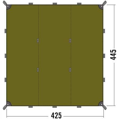 Toile Tatonka Tarp 1 - Polyester