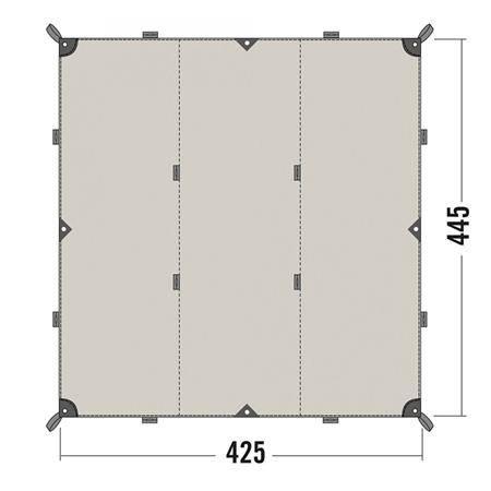 Toile Tatonka Tarp 1 Tc - Coton Imperméable