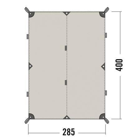 Toile Tatonka Tarp 4 Tc - Coton Imperméable
