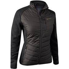 Veste femme deerhunter lady caroline padded jacket - brown leaf