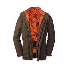 Veste homme blaser hybrid 2en1 - camo orange/marron
