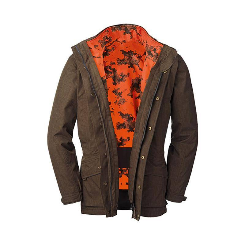 VESTE HOMME BLASER HYBRID 2EN1 - CAMO ORANGE/MARRON - XL