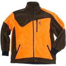 Veste homme browning powerfleece one - vert/orange