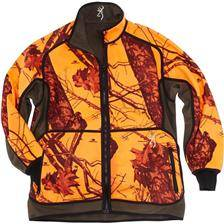 Veste reversible homme browning powerfleece one - blaze orange/vert